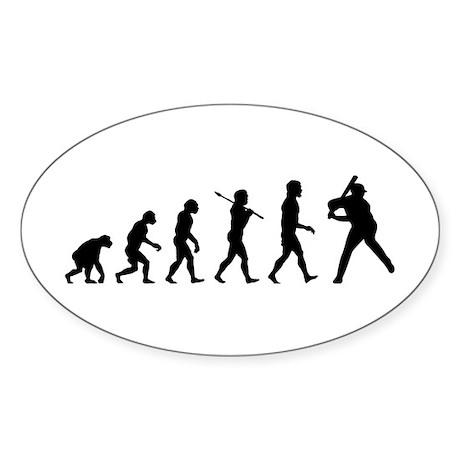 Baseball Oval Sticker