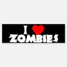 I heart Zombies Bumper Bumper Bumper Sticker