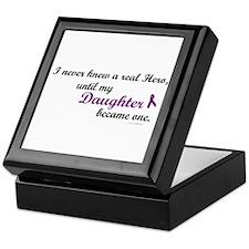 Never Knew A Hero DAUGHTER (Purple) Keepsake Box