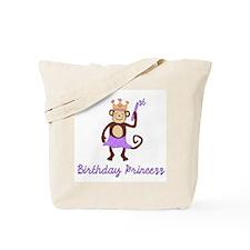 1st Birthday Princess Monkey Tote Bag