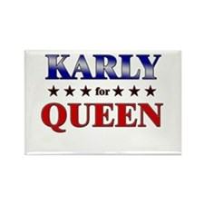 KARLY for queen Rectangle Magnet