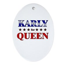 KARLY for queen Oval Ornament