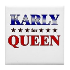 KARLY for queen Tile Coaster