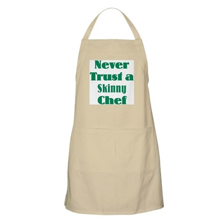 Never Trust a Skinny Chef BBQ Apron
