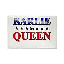 KARLIE for queen Rectangle Magnet