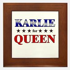 KARLIE for queen Framed Tile