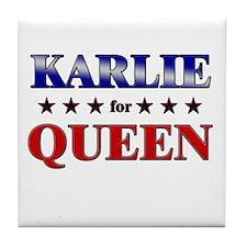 KARLIE for queen Tile Coaster