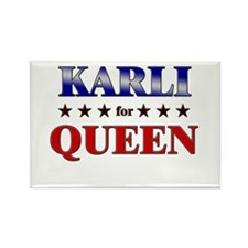 KARLI for queen Rectangle Magnet