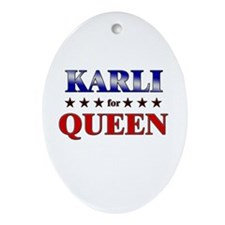 KARLI for queen Oval Ornament