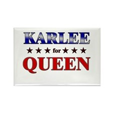KARLEE for queen Rectangle Magnet