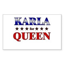 KARLA for queen Rectangle Decal