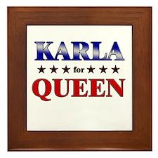 KARLA for queen Framed Tile