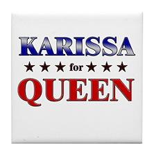 KARISSA for queen Tile Coaster