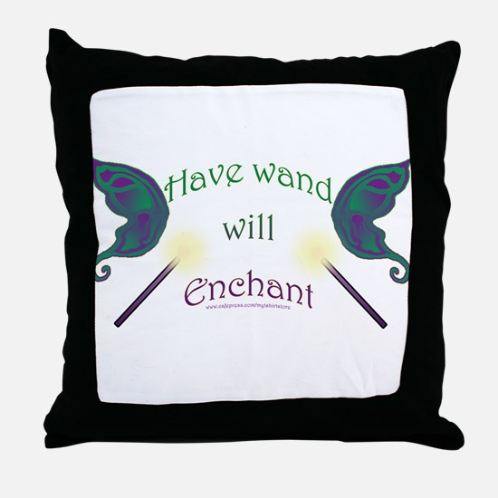 Have wand, will enchant Throw Pillow