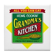 Grandma's Kitchen Tile Coaster
