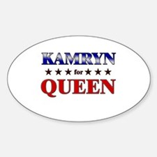 KAMRYN for queen Oval Decal