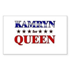 KAMRYN for queen Rectangle Decal
