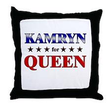 KAMRYN for queen Throw Pillow