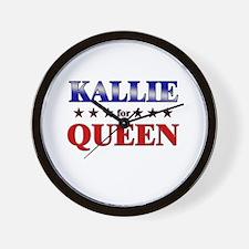 KALLIE for queen Wall Clock