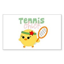 Tennis Chick Rectangle Sticker