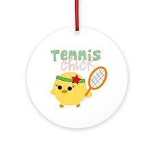 Tennis Chick Ornament (Round)