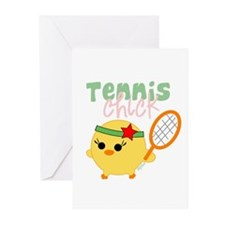 Tennis Chick Greeting Cards (Pk of 20)