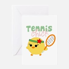 Tennis Chick Greeting Card