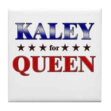 KALEY for queen Tile Coaster