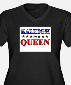 KALEIGH for queen Women's Plus Size V-Neck Dark T-