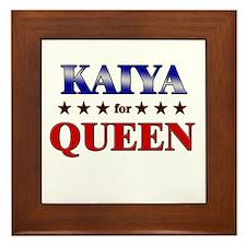 KAIYA for queen Framed Tile