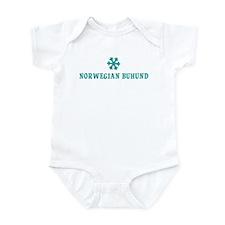 NORWEGIAN BUHUND Snowflake Infant Bodysuit