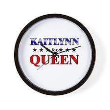 KAITLYNN for queen Wall Clock