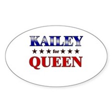 KAILEY for queen Oval Decal
