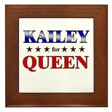 KAILEY for queen Framed Tile