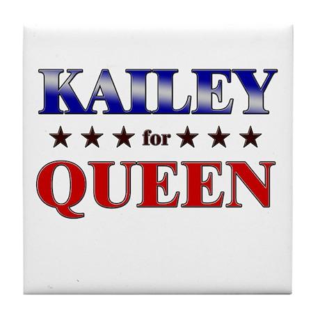 KAILEY for queen Tile Coaster