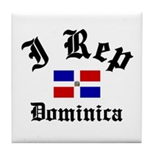 I rep Dominica Tile Coaster