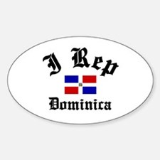 I rep Dominica Oval Decal