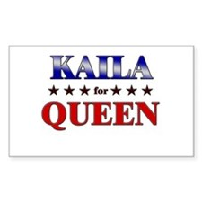 KAILA for queen Rectangle Decal