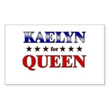 KAELYN for queen Rectangle Decal