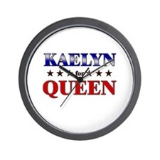 KAELYN for queen Wall Clock