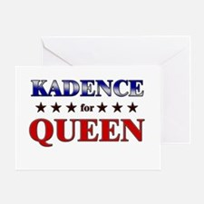 KADENCE for queen Greeting Card