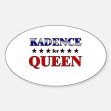 KADENCE for queen Oval Decal