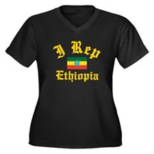 I rep Ethiopia Women's Plus Size V-Neck Dark T-Shi