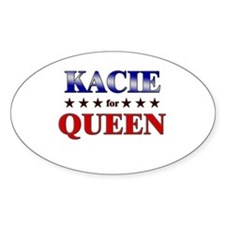 KACIE for queen Oval Decal