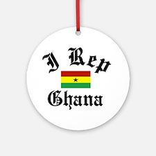 I rep Ghana Ornament (Round)