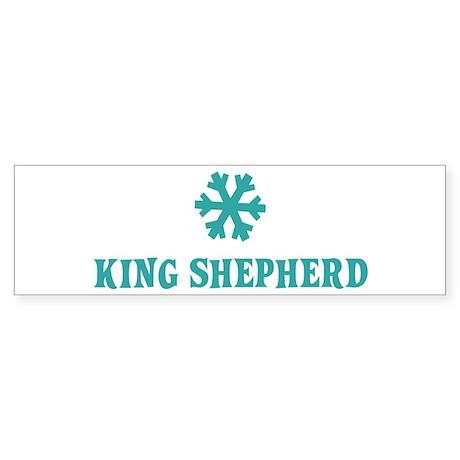 KING SHEPHERD Snowflake Bumper Sticker