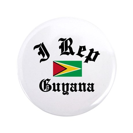 """I rep Guyana 3.5"""" Button (100 pack)"""