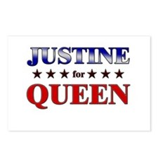 JUSTINE for queen Postcards (Package of 8)