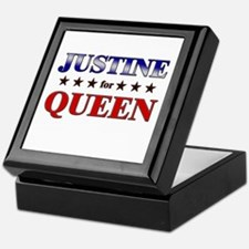 JUSTINE for queen Keepsake Box