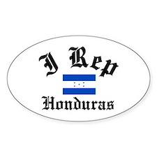 I rep Honduras Oval Decal
